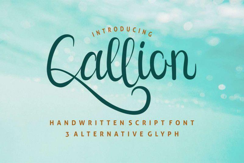 Callion Calligraphy Font