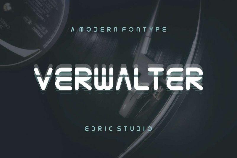 Verwalter Futuristic Font