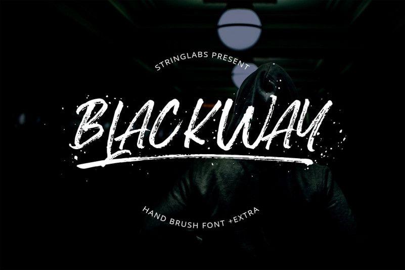 blackway-brush-font