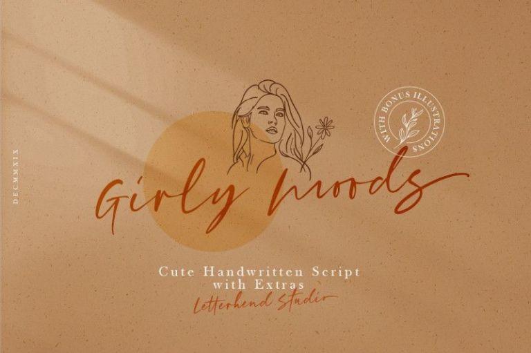 Girly Moods Script Font