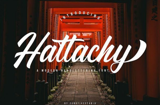 Hattachy Modern Script Font