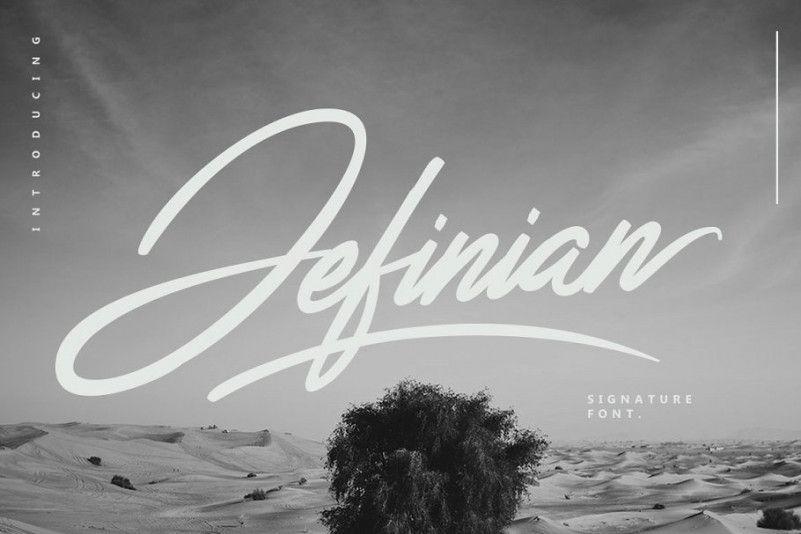 jefinian-script-font
