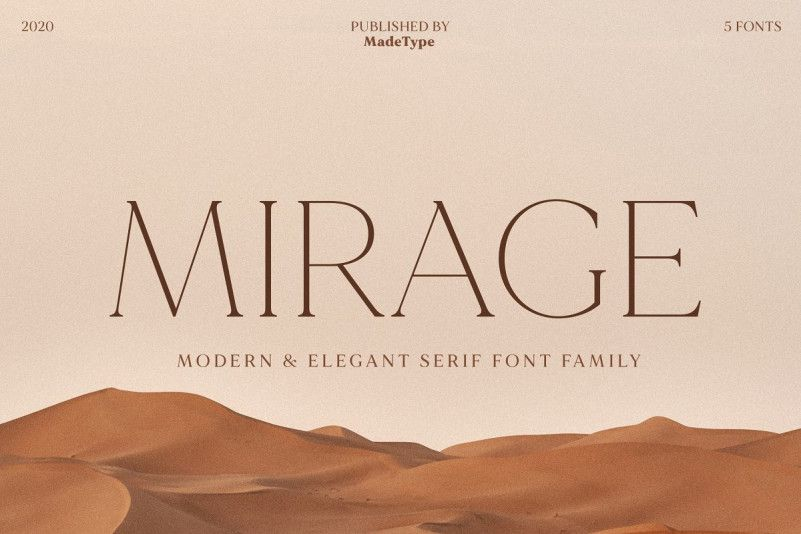 MADE Mirage Serif Font Family