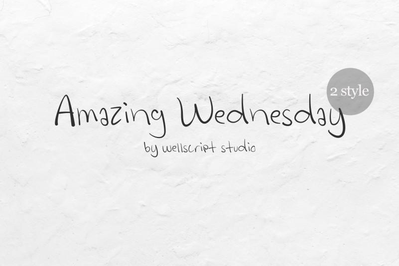 Amazing Wednesday Font