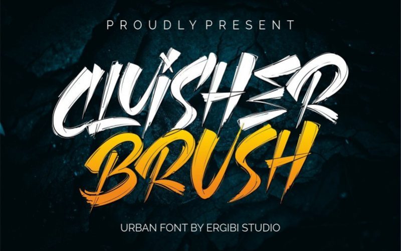 Cluisher Brush Font