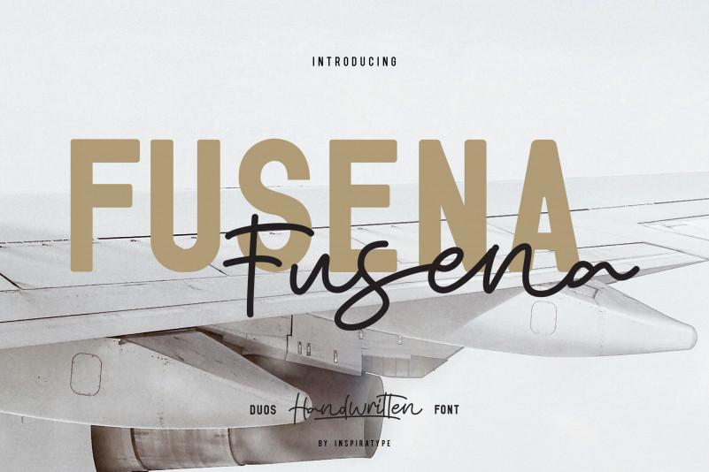 Fusena Duos Handwritten Font
