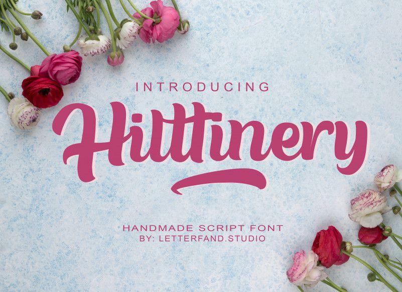 Hilttinery Script Font