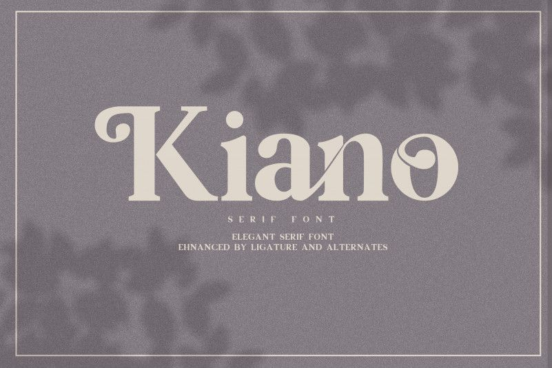 Kiano Free Serif Font