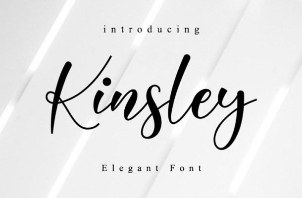 Kinsley Calligraphy Font