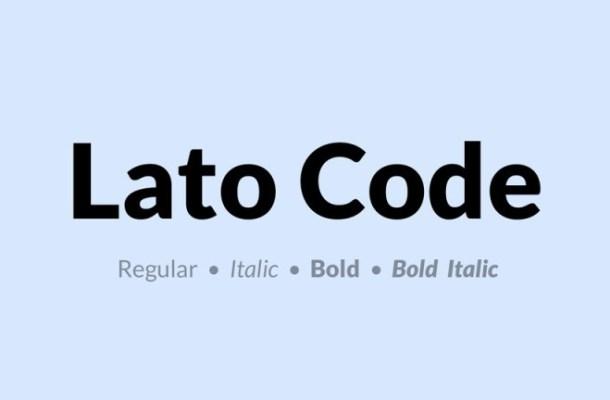 Lato Code Font Family