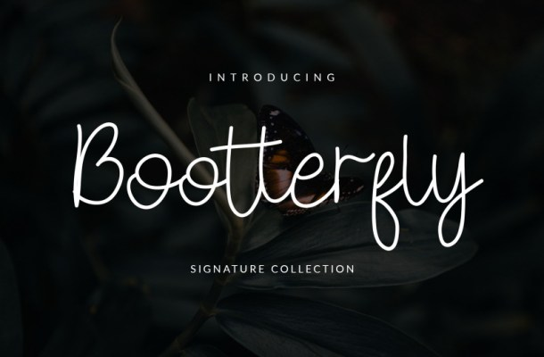Bootterfly Font