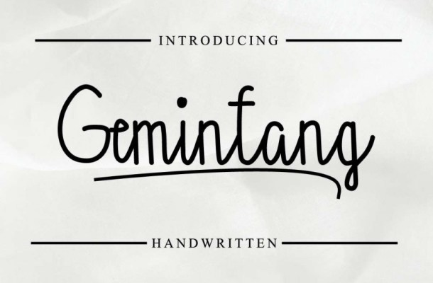 Gemintang Script Font