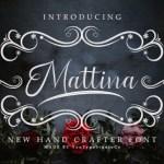 Mattina Calligraphy Font