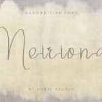 Meiriona Handwriting Font
