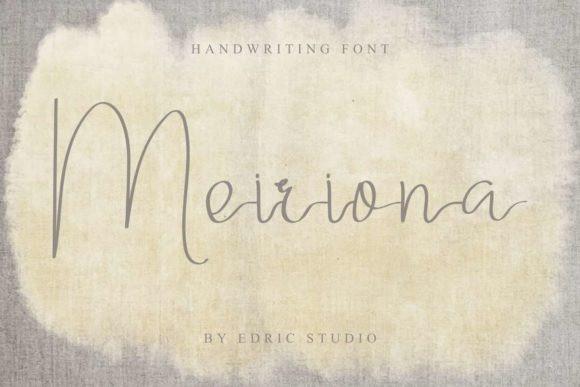 Meiriona Handwriting Font