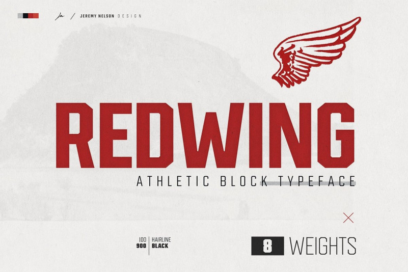Redwing Display Font
