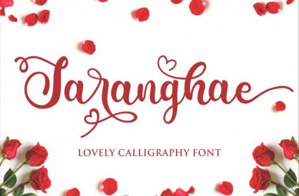 Saranghae Calligraphy Font