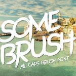 SomeBrush Font