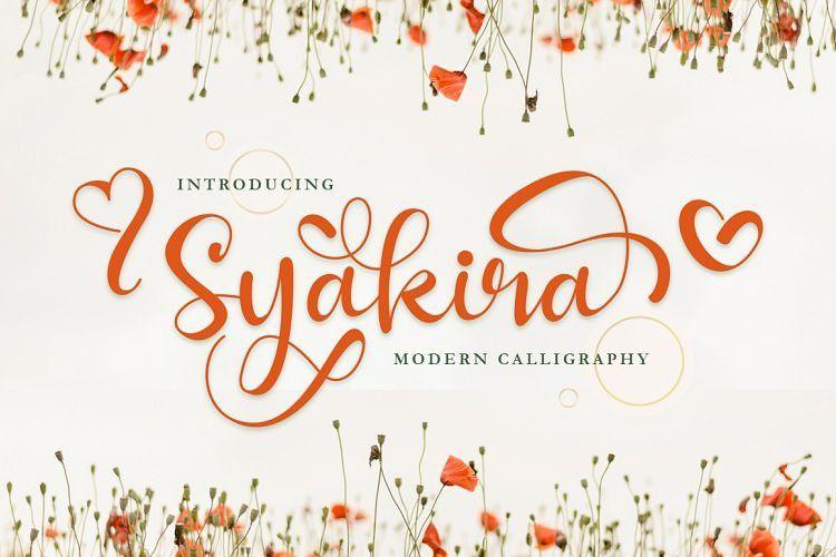 syakira-calligraphy-font