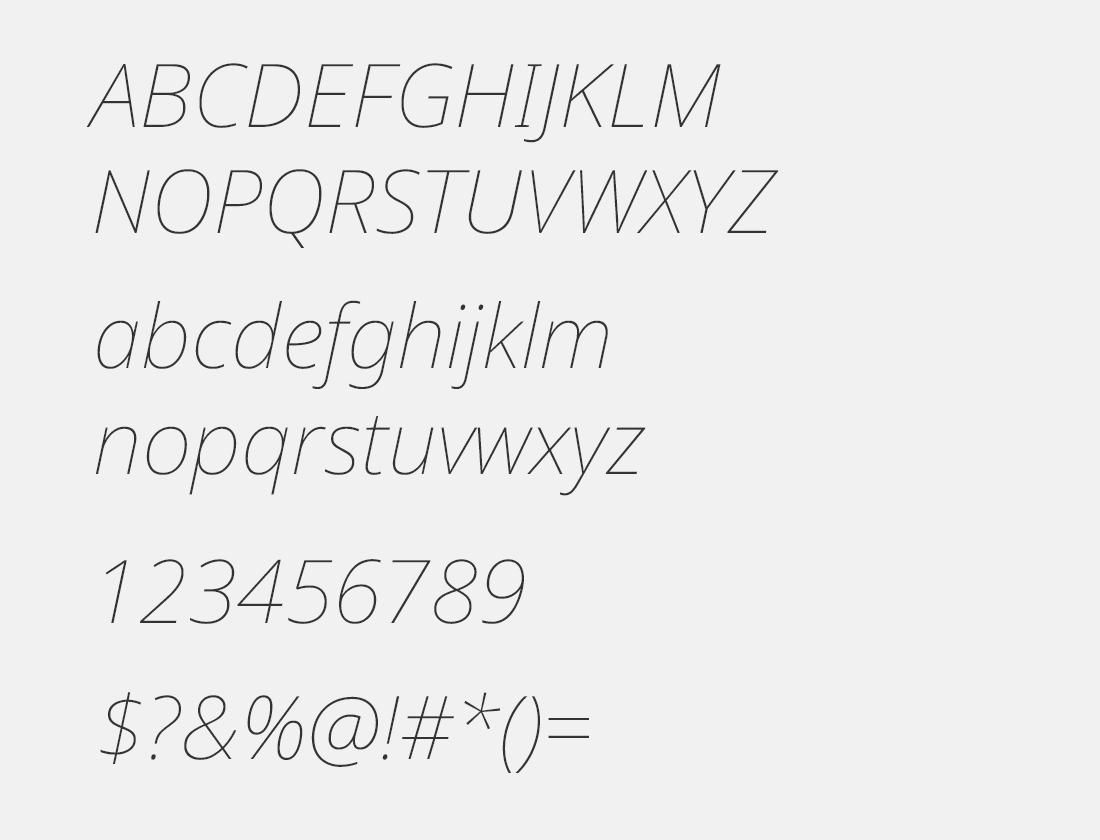 02 Noto Sans Display Thin Italic font