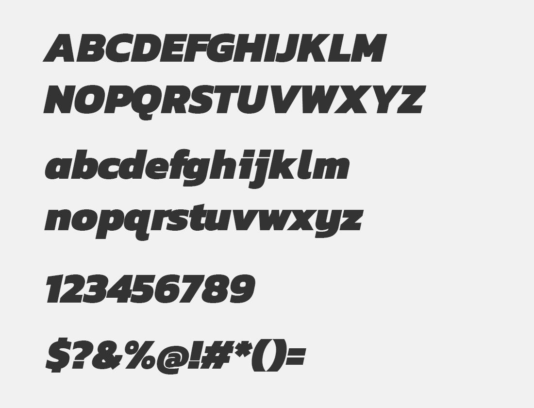 16 Kanit Black Italic font