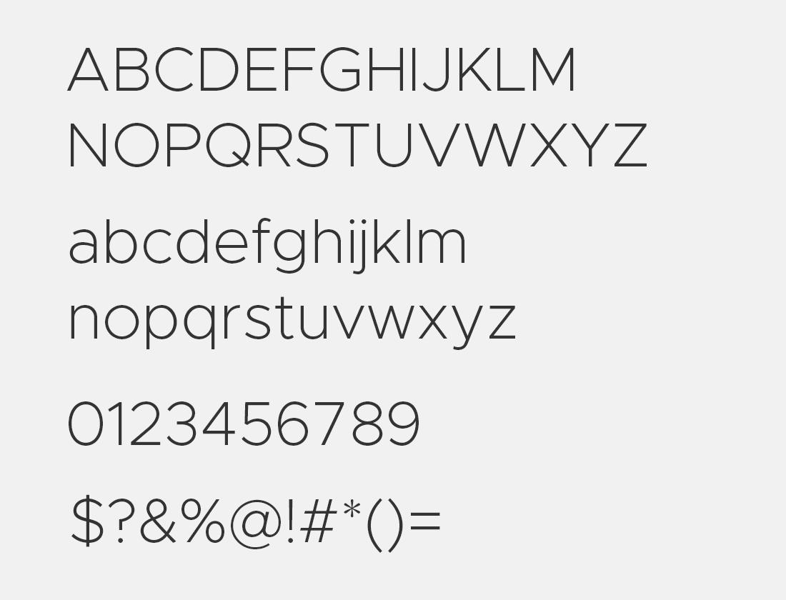 3 Metropolis-ExtraLight font