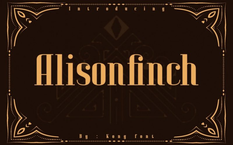 Alison Finch Display Font-1