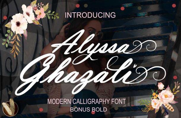 Alyssa Ghazali Calligraphy Font