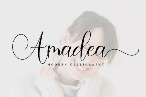 Amadea Modern Calligraphy Font