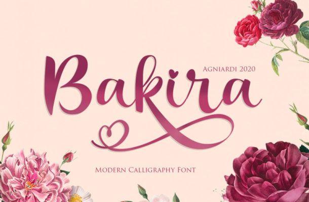 Bakira Modern Calligraphy Font