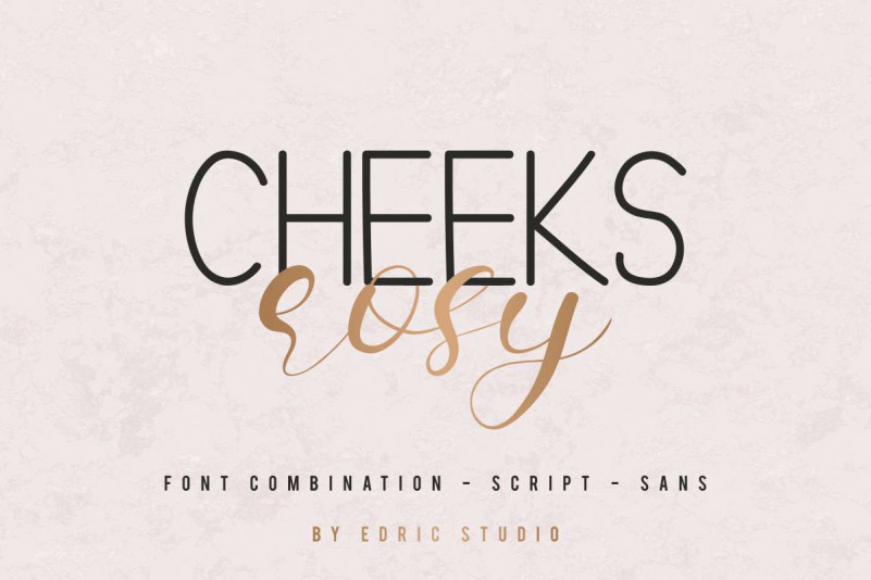 Cheeks Rosy Font Duo