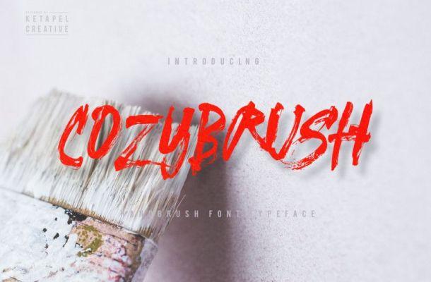 Cozybrush Font