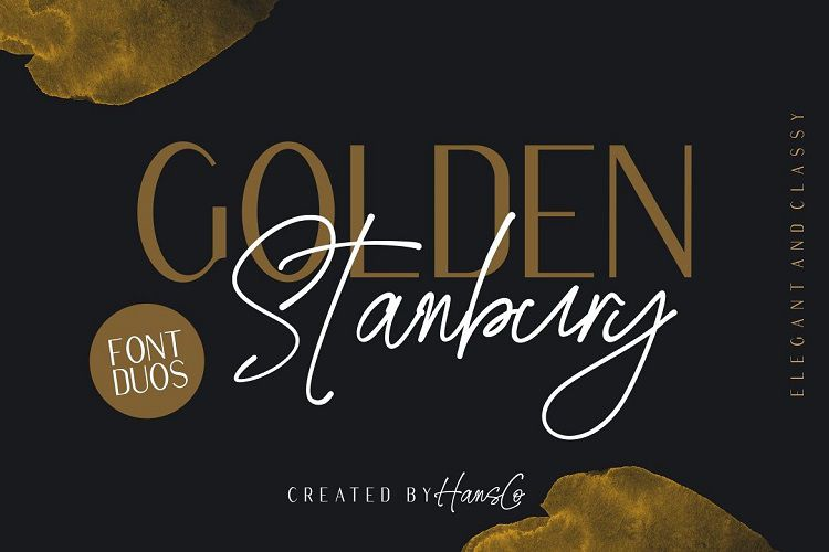 Golden Stanbury Font Duo-1