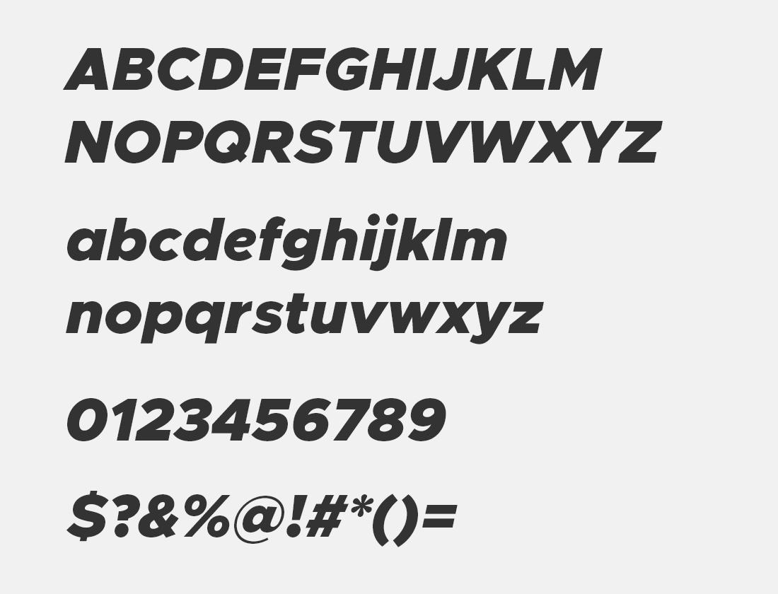 Metropolis Black Italic font