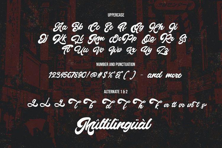Montages - Retro Bold Script Font-3