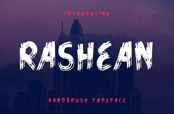 Rashean Brush Font