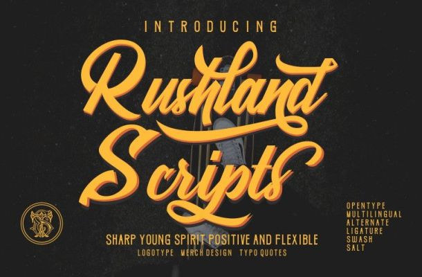 Rushland Scripts Calligraphy Brush Style Font