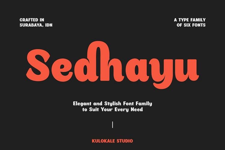Sedhayu Font Family-1