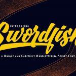 SwordFish Unique Handlettering Script Font