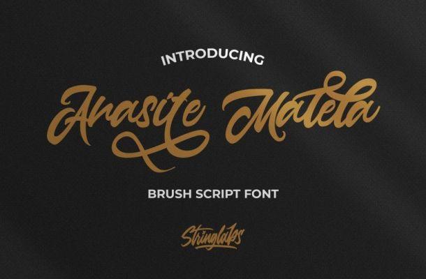 Anasite Malela Bold Script Font