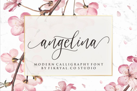 Angelina Modern Calligraphy Font