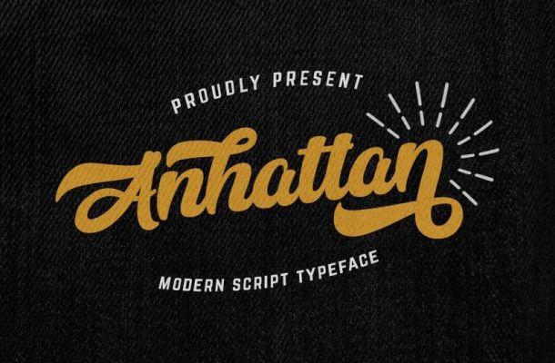Anhattan Script Font