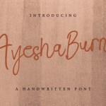 Ayesha Burns Handwritten Font