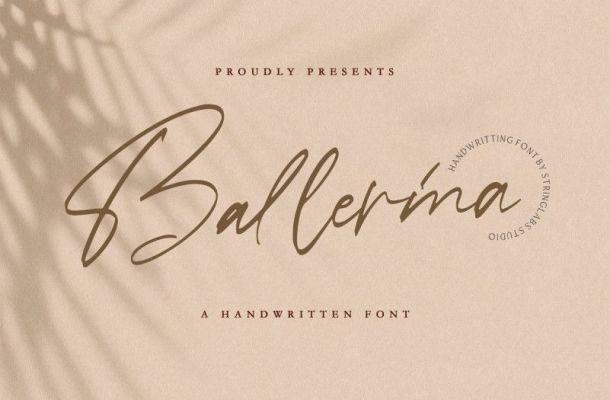 Ballerina Signature Script Font