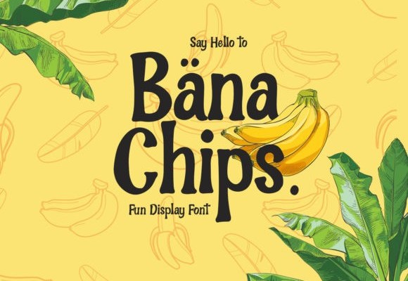 Bana Chips Display Font