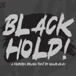 Black Hold Brush Font