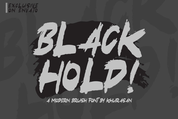black-hold-font