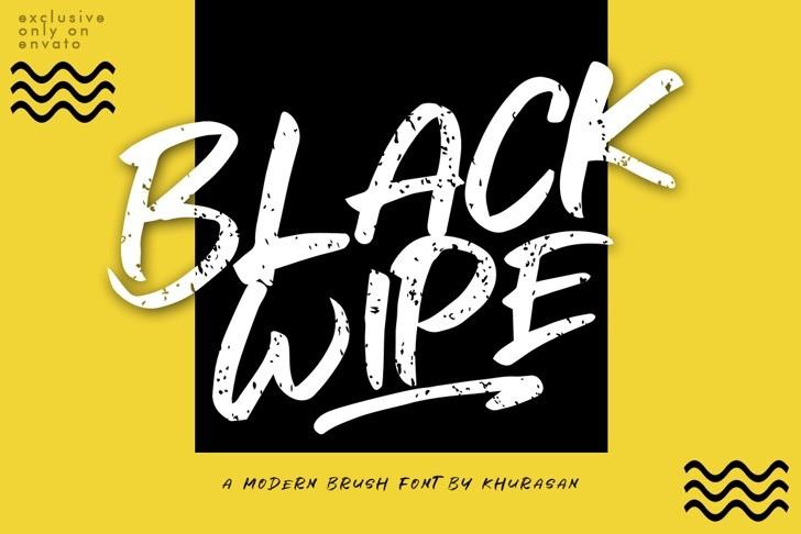 black-wipe-font