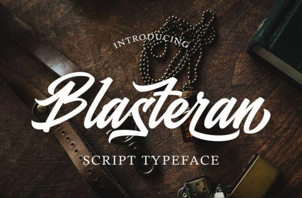 Blasteran Script Font