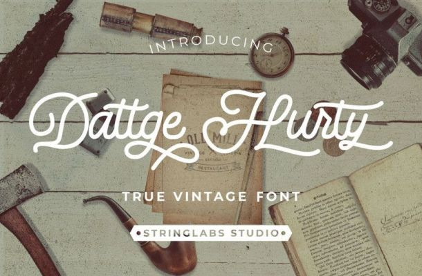 Dattge Hurty Monoline Retro Font